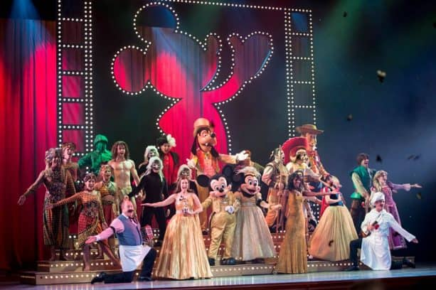 Golden Mickeys Broadway-style show onboard Disney Cruise Line