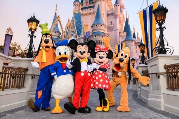 Goofy, Donald, Mickey, Minnie and Pluto at Magic Kingdom Park