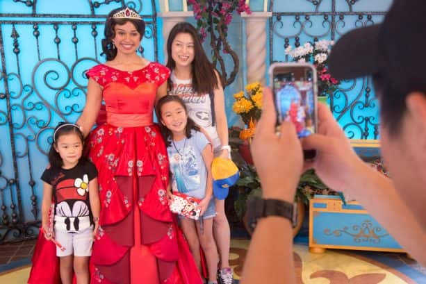 Meeting Elena of Avalor at Paradise Park in Disney California Adventure park