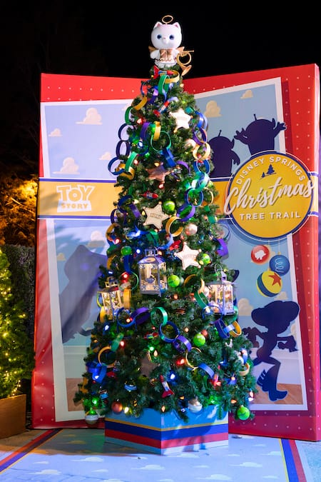 Toy Story Christmas Ornaments.The Disney Springs Christmas Tree Trail Features Five New