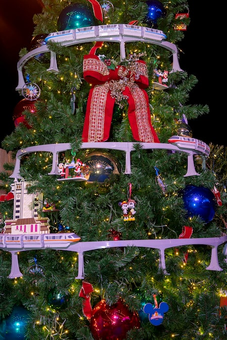 Walt Disney World Theme Parks Tree on The Disney Springs Christmas Tree Trail