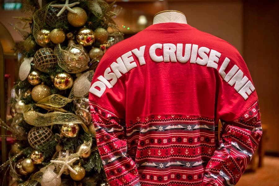 Disney Cruise Line Holiday-Themed Spirit Jersey