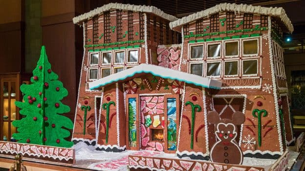 The gingerbread house at Disney's Grand Californian Hotel & Spa at the Disneyland Resort