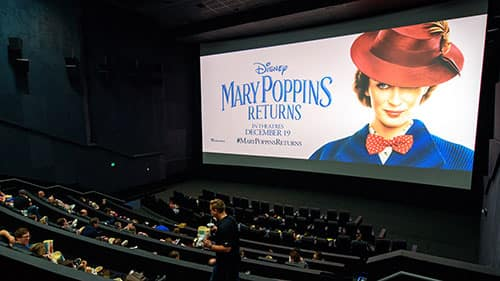 "Disney Parks Blog readers inside AMC Disney Springs 24 an early screening of ""Mary Poppins Returns"