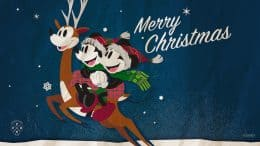 Mickey & Minnie-Inspired Holiday Wallpaper