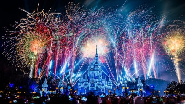 new years eve fireworks at magic kingdom park