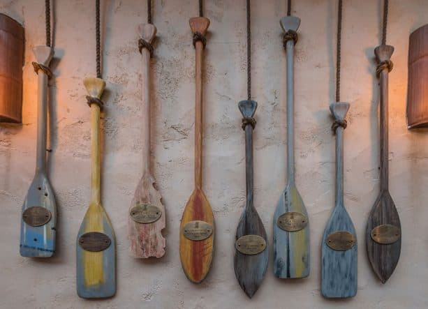 Paddles on the wall, The Tropical Hideaway at Disneyland park