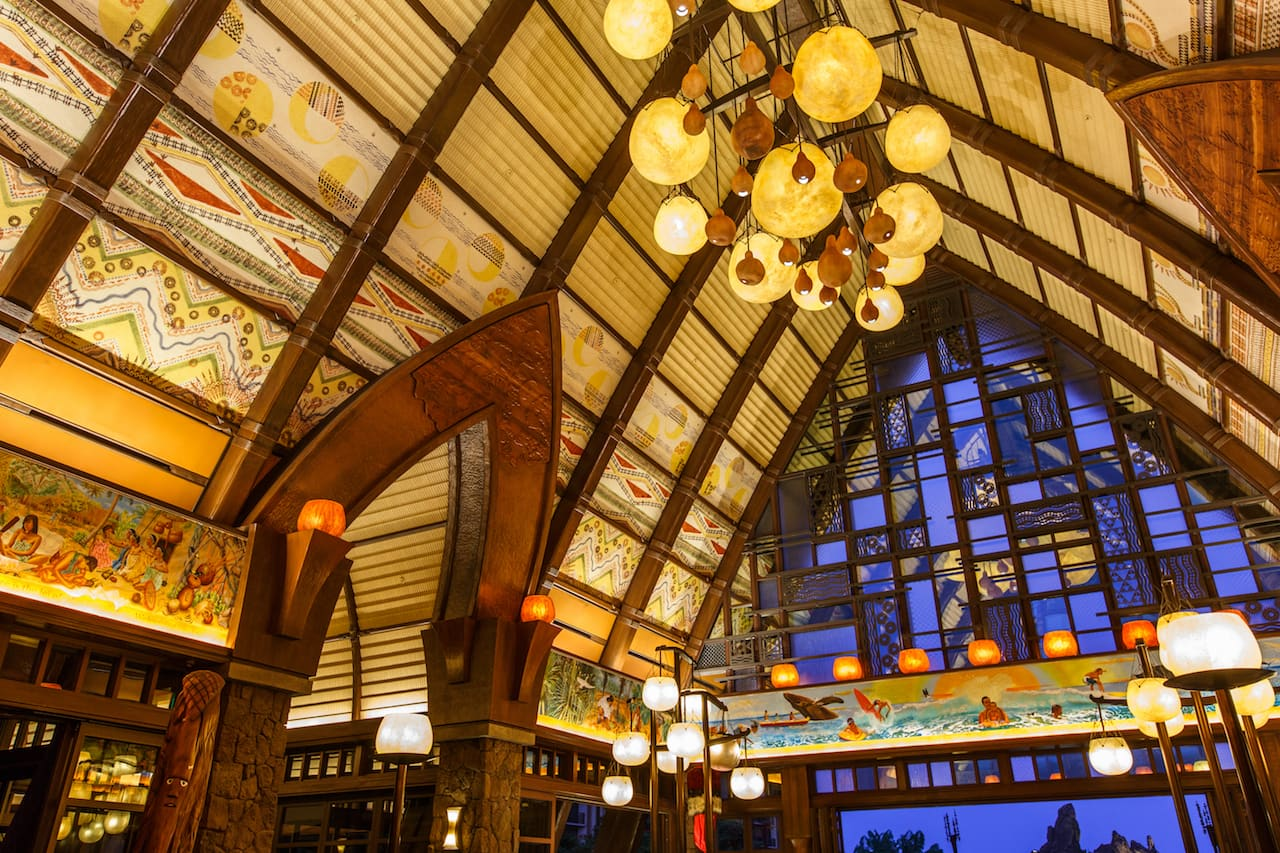 Lobby of Aulani, a Disney Resort & Spa
