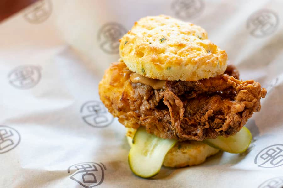 Crispy Chicken Biscuit at D-Luxe Burger at Disney Springs