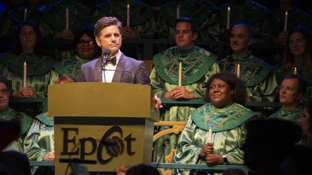 John Stamos Performs in 2018 Candlelight Processional at Epcot at Walt Disney World Resort