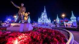 Cinderella Castle at Magic Kingdom Park During the Holidays