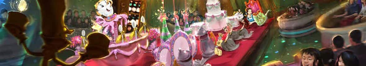 First Look at Beauty and the Beast Attraction Coming to Tokyo Disneyland