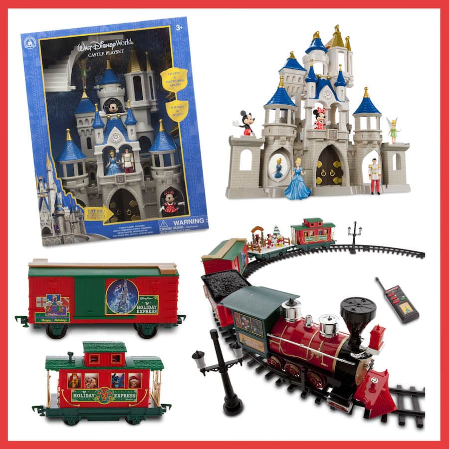 Disney Parks Holiday Train Set and Cinderella Castle Play Set