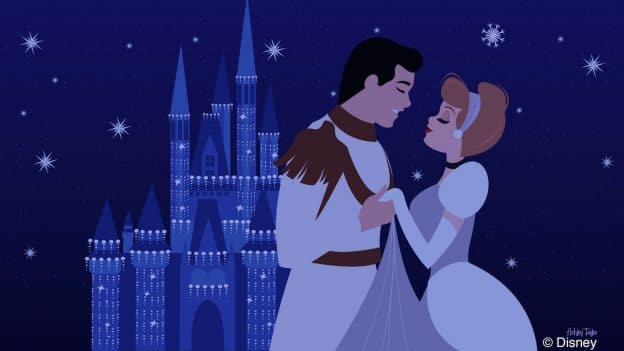 Cinderella & Prince Charming Take In Cinderella Castle