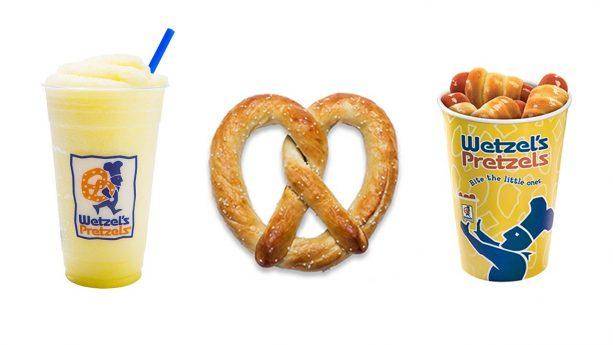 Wetzel's Pretzels menu items