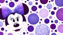 Minnie Mouse Purple Polka Dots Wallpaper 1366x768