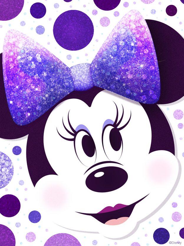 Minnie Mouse Purple Polka Dots Wallpaper 768x1024