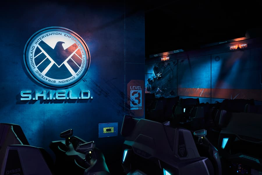 "Ant-Man and The Wasp: Nano Battle! at Hong Kong Disneyland - one of S.H.I.E.L.D.'s newest combat vehicles, D/AGR – the Defense/Assault Ground Rover (aka ""the Dagger"")"