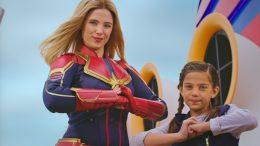 Captain Marvel aboard Disney Cruise Line