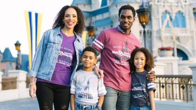 Family wearing Disney Parks Authentic Custom T-Shirts and Gear from shopDisney.com