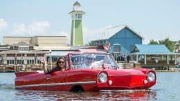The Boathouse Amphicar tour at Disney Springs