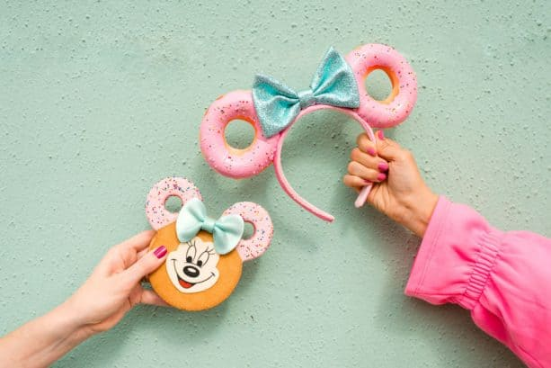 Minnie cookie and Minnie Donut Ear headband