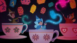Disney Doodles: Flora & Merryweather Visit Mad Tea Party
