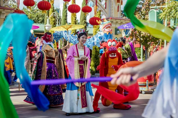 Lunar New Year celebrations, Disney California Adventure park