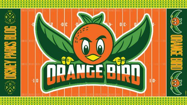 Orange Bird Digital Wallpaper
