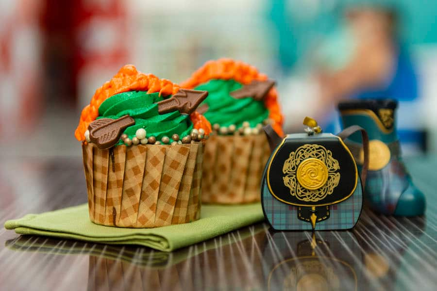 Merida Cupcake from Intermission Food Court at Disney's All Star Music Resort