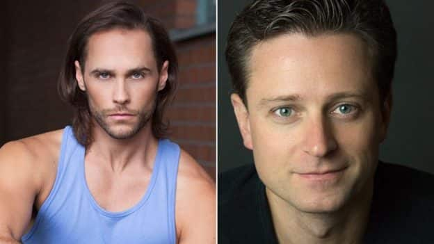 Actors Kevin Massey and Josh Strickland
