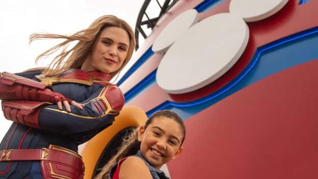 Captain Marvel Lands Aboard Disney Cruise Line