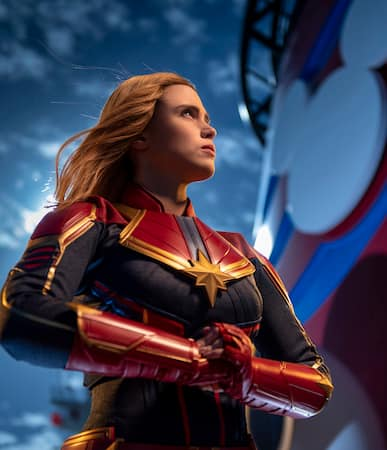 Exclusive Photos Captain Marvel Lands Aboard Disney Cruise Line