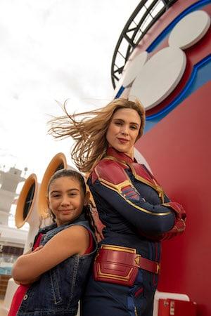 Captain Marvel Lands Aboard Disney Cruise Line