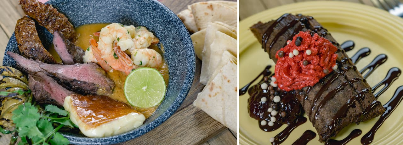 Molcajete Platter and Chocolate Tamale from Ranch del Zocalo Restaurante for Minnie's Valentine's Day Surprise at Disneyland Park