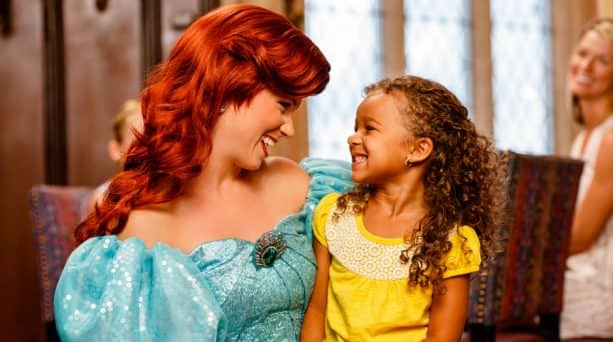 Young guest meeting Ariel