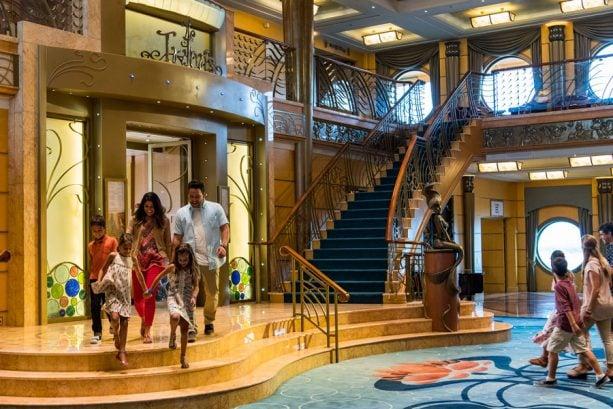 Disney Wonder atrium lobby
