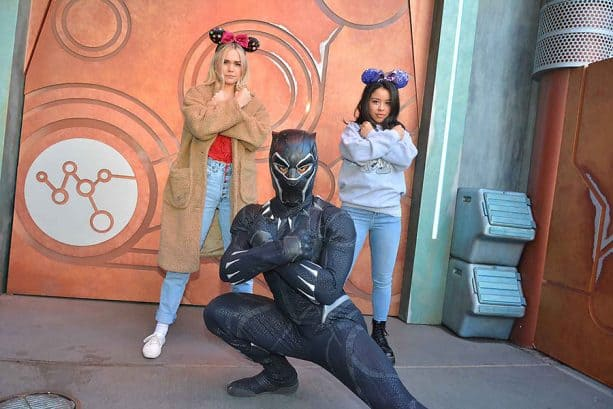 Cierra Ramirez and Maia Mitchell meet Black Panther