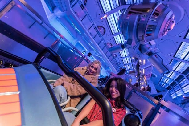 Cierra Ramirez and Maia Mitchell ride Space Mountain