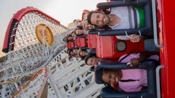 Incredicoaster at Pixar Pier at Disney California Adventure