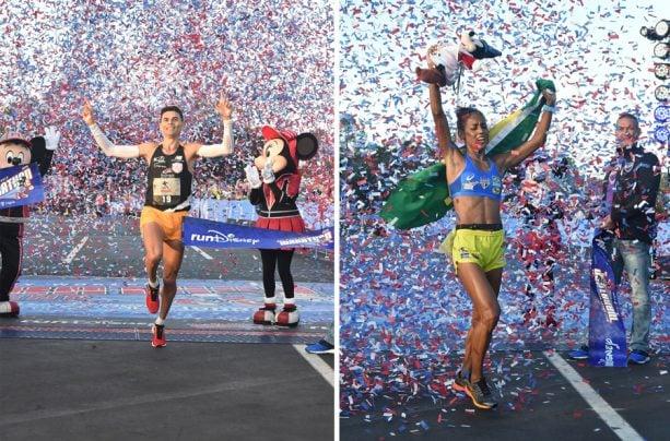 2019 Walt Disney World Marathon winners Fredison Costa and Giovanna Martins