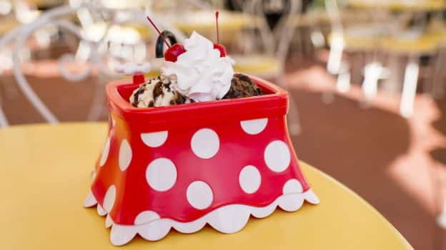 Minnie Kitchen Sink from Plaza Ice Cream Parlor for Mickey & Minnie's Surprise Celebration at Magic Kingdom Park