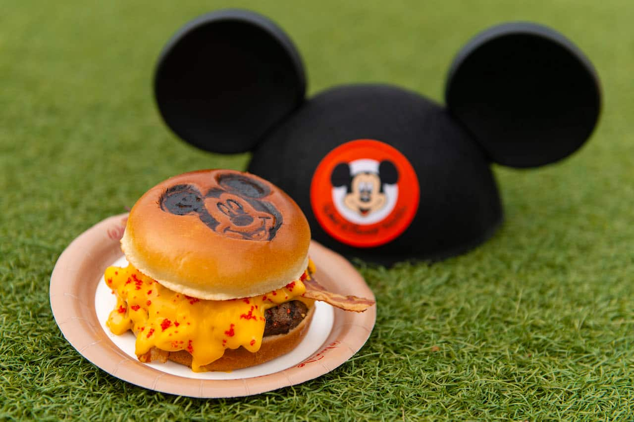 Mickey Burger from Cosmic Ray's Starlight Café for Mickey & Minnie's Surprise Celebration at Magic Kingdom Park