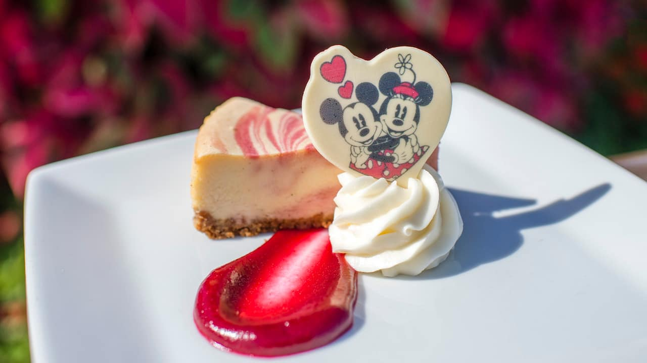 True Love Cheesecake for Mickey & Minnie's Surprise Celebration at Magic Kingdom Park