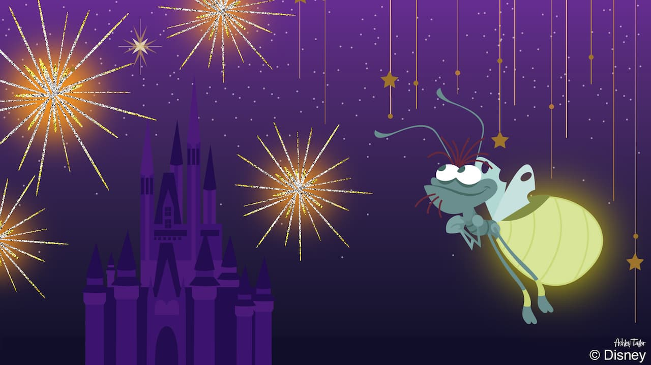 Disney Doodle Ray From The Princess And The Frog Delights At Nighttime Entertainment Disney Parks Blog