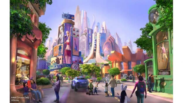 'Zootopia'-Themed Expansion Coming to Shanghai Disneyland - rendering