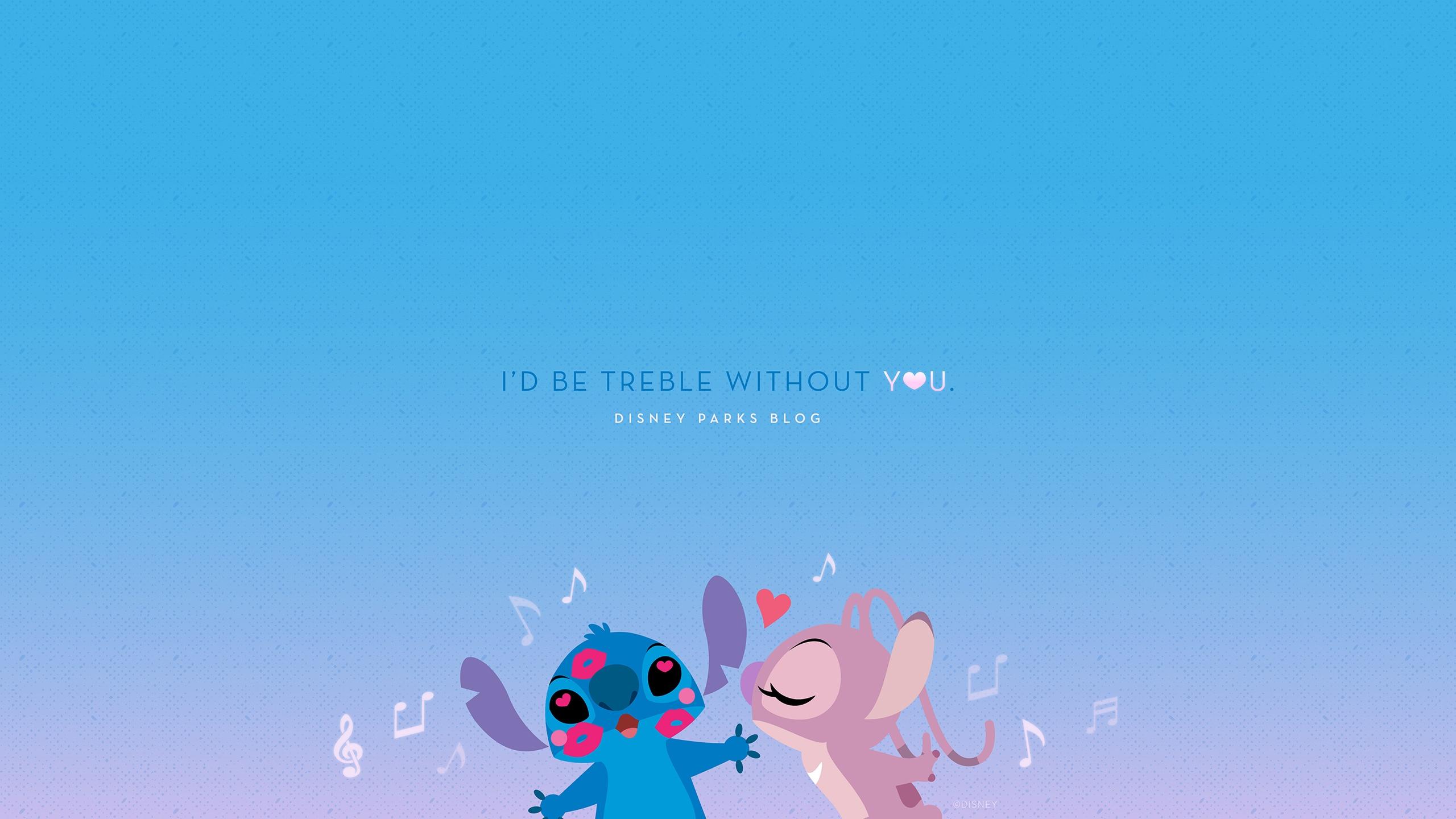 2019 Stitch Valentine S Day Wallpaper Desktop Ipad Disney Parks Blog