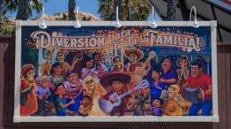 """Coco""-inspired mural at Pixar Pier at Disney California Adventure park"