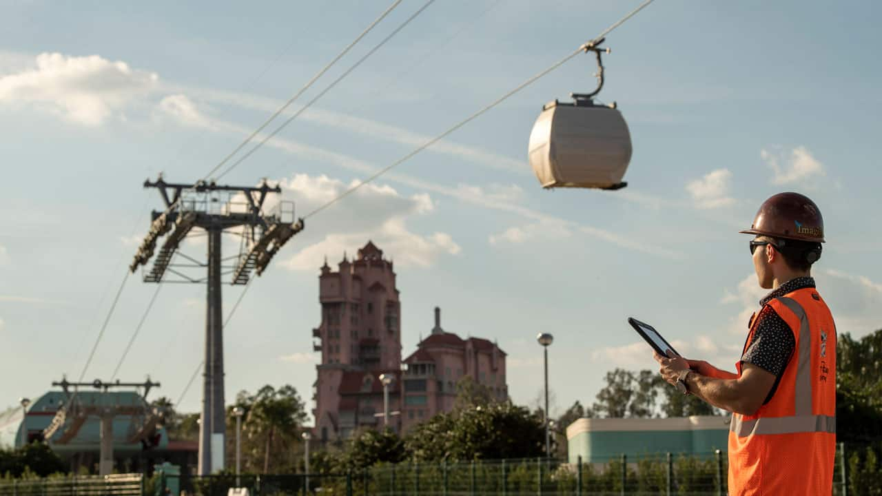 Disney Skyliner testing in progress. Photo