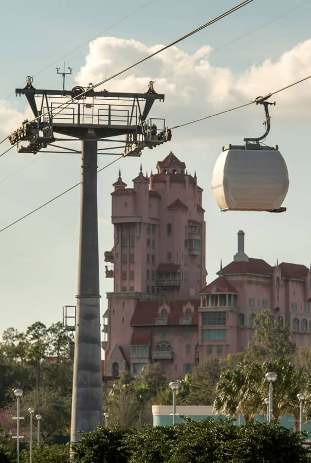 Disney Skyliner guest cabins make test runs back-and-forth between Disney's Caribbean Beach Resort and Disney's Hollywood Studios